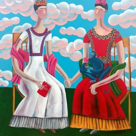 """The Two Fridas"" a giclee reproduction of an original painting by Kitti Narod Gallery"