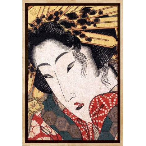 "Rejected Geisha #3, a reproduction ""Ukiyo-e"" print by Keisai Eisen"