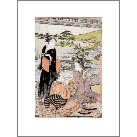 Yōkyū (Archery), a reproduction Ukiyo-e print by Chōbunsai Eishi Gallery