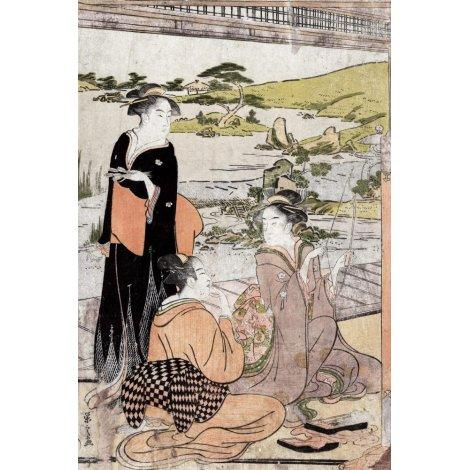 Yōkyū (Archery), a reproduction Ukiyo-e print by Chōbunsai Eishi