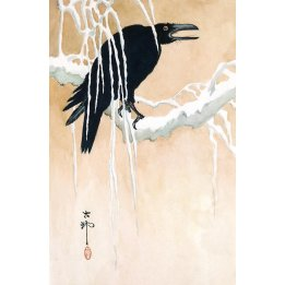 Blackbird In The Snow, a reproduction of a
