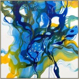 """Summertime Blues"" a reproduction print of a John Martono original silk."