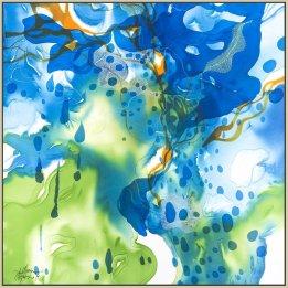 """Perfect World"" a reproduction print of an original John Martono silk painting"