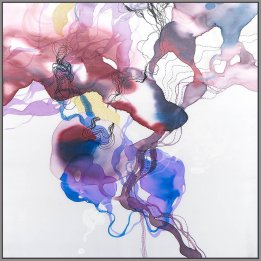 """Evensong"" a reproduction art print of an original John Martono silk painting"
