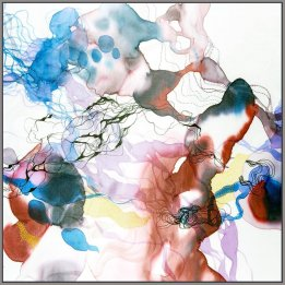 """Affectionate"" a reproduction of an original John Martono silk painting"