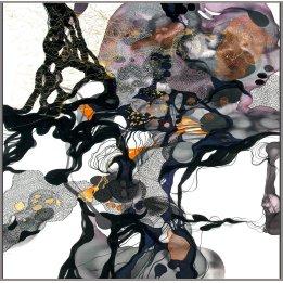 """Quintessence"" a reproduction of an original John Martono silk painting"