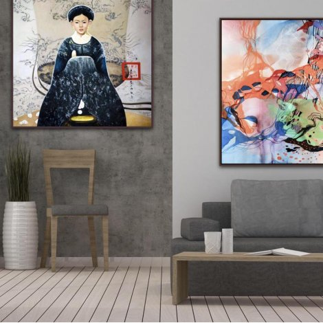 Noble Girl : A framed art print on canvas Gallery